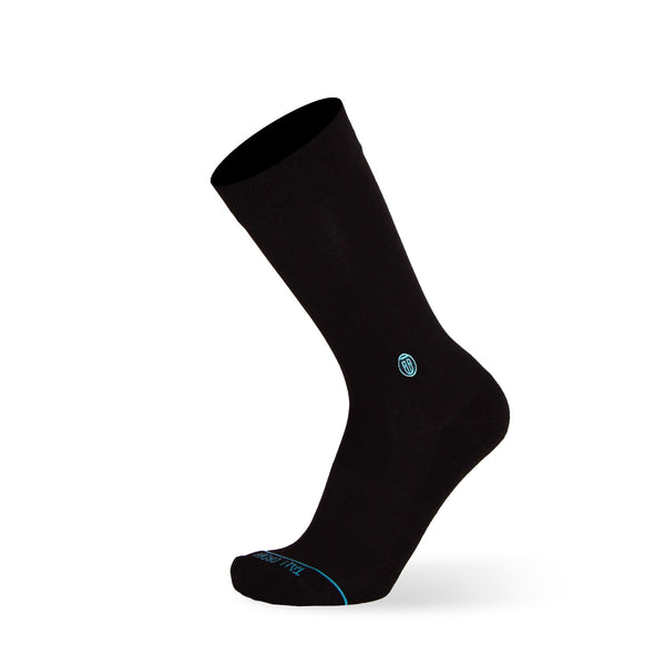 Solid Black - Extra Cushioned - Dress Socks