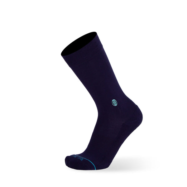Solid Navy - Extra Cushioned - Dress Socks