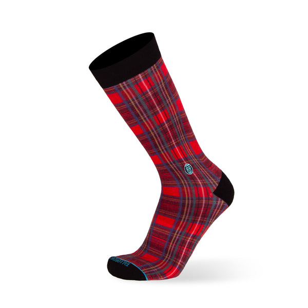 The Plaid - Extra Cushioned - Red Plaid Dress Socks