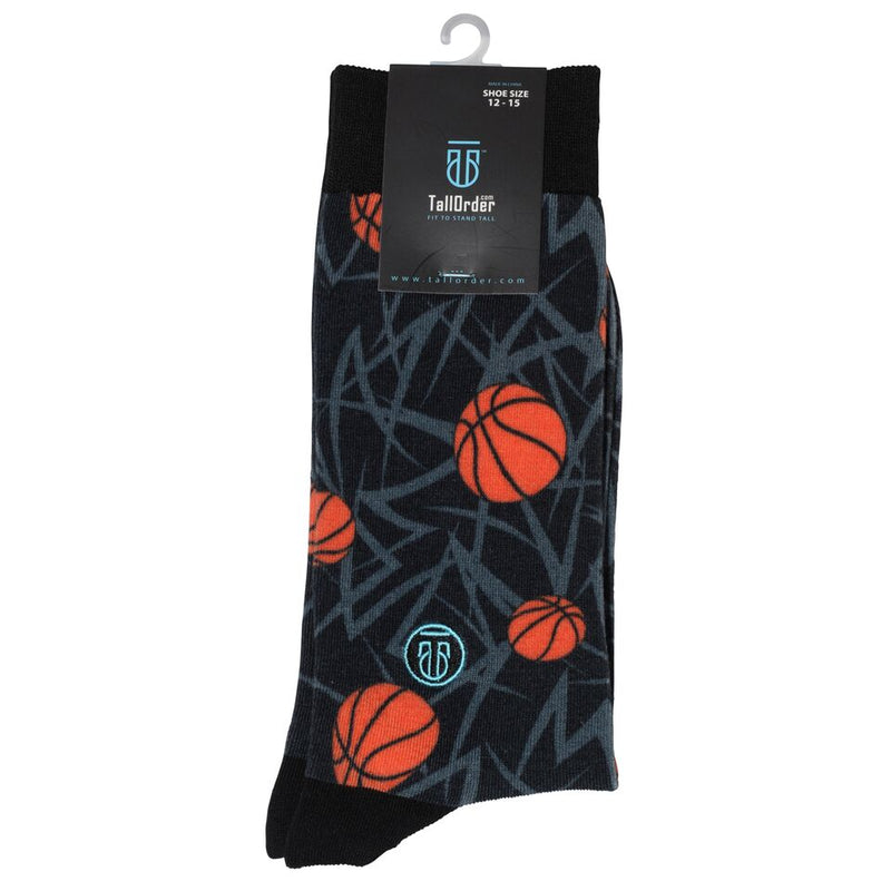The Mark, Big & Tall Men's Basketball Themed Dress Socks, Banded Socks