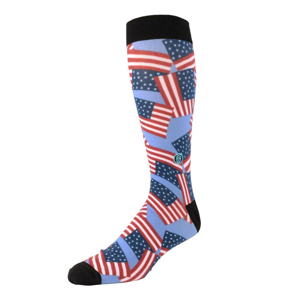The Scott, Big & Tall Men's Patriotic American Flag Dress Socks