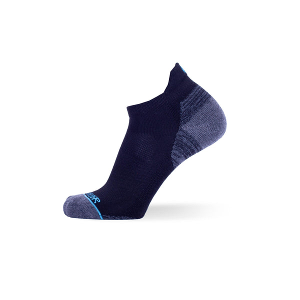 Black with Heather Grey & Heather Grey with Charcoal Two Pack - Extra Cushioned Low Cut Socks