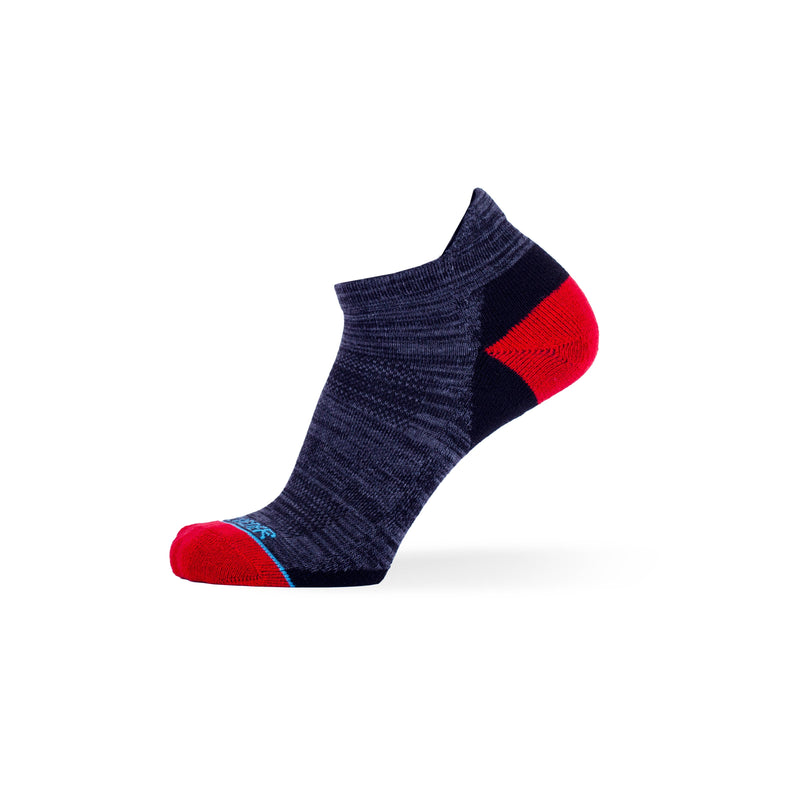 Black with Heather Grey & Charcoal with Red Two Pack - Extra Cushioned Ankle Socks