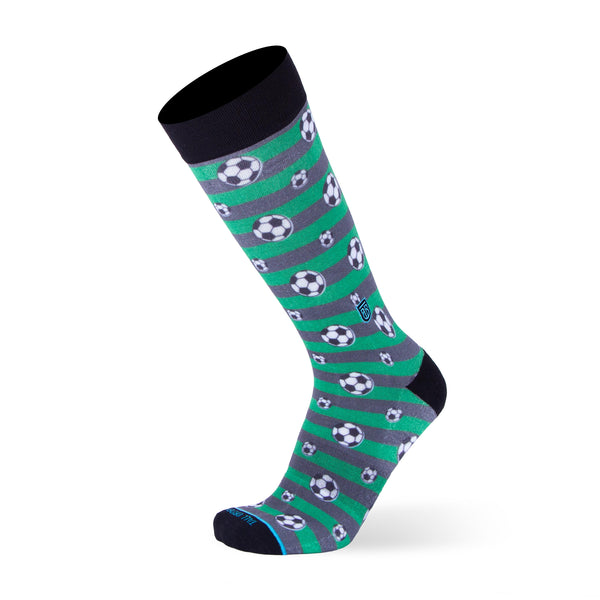 The Soccer - Extra Cushioned - Green Soccer Dress Socks