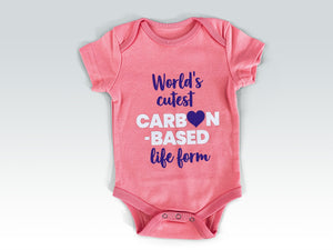 Cutest carbon-based life form baby romper