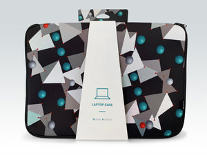 """Atoms up close"" laptop case"