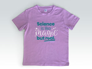 Science is like magic but real kids tee