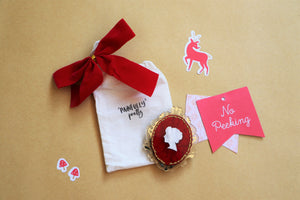 Royal Red Cameo Brooch | Melancholia Collection