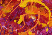 Autumn Leaves by Preethi Arts- 24x36 - Original Contemporary Modern Abstract Paintings by Preethi Arts