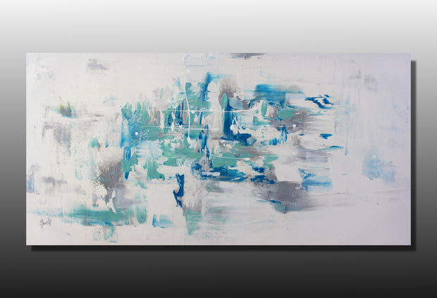 Bayside by Preethi Arts- 24x48 - Original Contemporary Modern Abstract Paintings by Preethi Arts