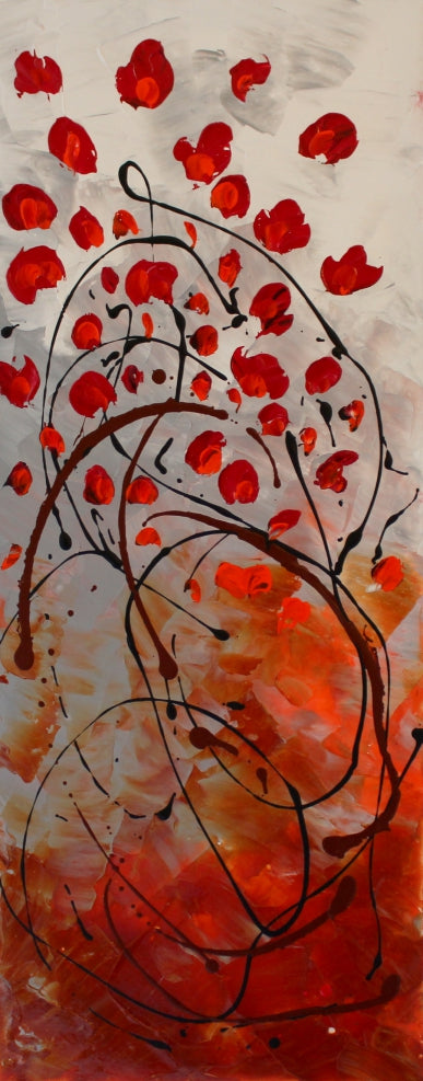 Blossom by Preethi Arts- 16X40 - Original Contemporary Modern Abstract Paintings by Preethi Arts