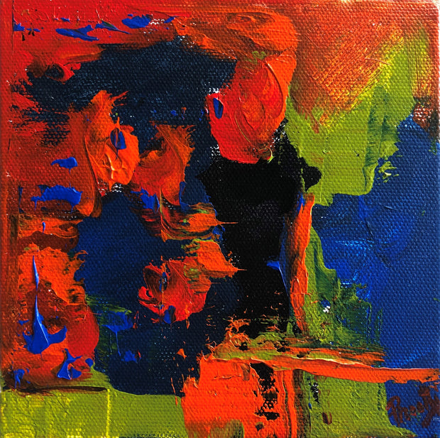 Caring 1 by Preethi Arts- 6x6 - Original Contemporary Modern Abstract Paintings by Preethi Arts