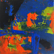Caring 2 by Preethi Arts- 6x6 - Original Contemporary Modern Abstract Paintings by Preethi Arts