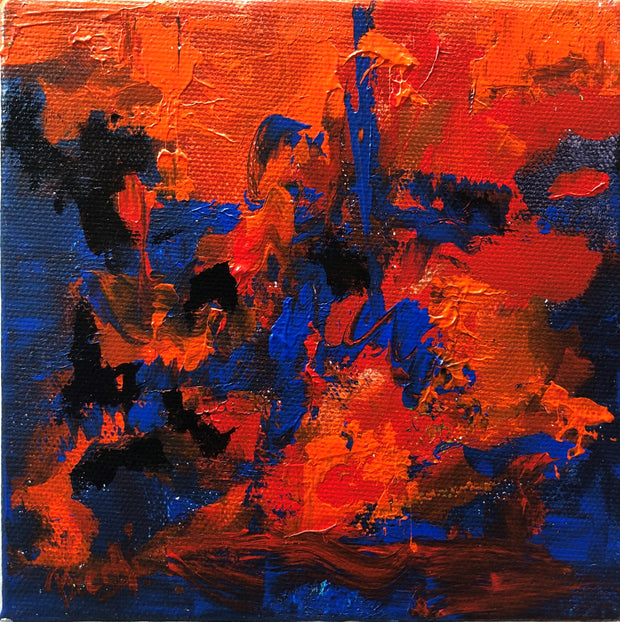 Caring 5 by Preethi Arts- 6x6 - Original Contemporary Modern Abstract Paintings by Preethi Arts