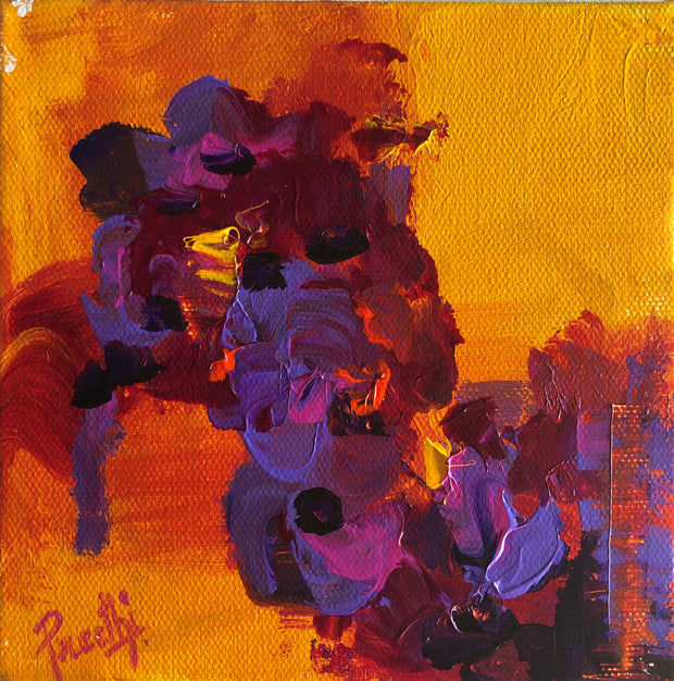 Compassion 2 by Preethi Arts- 6x6 - Original Contemporary Modern Abstract Paintings by Preethi Arts