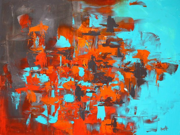 Cuprite by Preethi Arts- 30x40 - Original Contemporary Modern Abstract Paintings by Preethi Arts