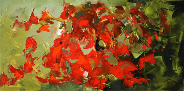 Desire by Preethi Arts- 24x48 - Original Contemporary Modern Abstract Paintings by Preethi Arts