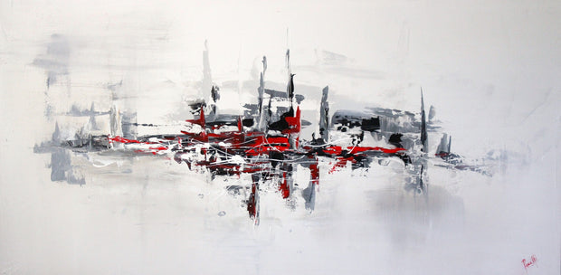 Elegance by Preethi Arts- 24x48 - Original Contemporary Modern Abstract Paintings by Preethi Arts