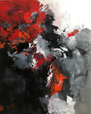 Fearless 2 by Preethi Arts- 14x11 - Original Contemporary Modern Abstract Paintings by Preethi Arts