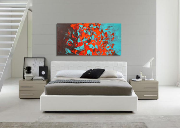 Flares by Preethi Arts- 24x48 - Original Contemporary Modern Abstract Paintings by Preethi Arts
