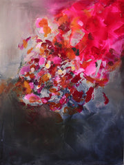 Garnet by Preethi Arts- 30x40 - Original Contemporary Modern Abstract Paintings by Preethi Arts