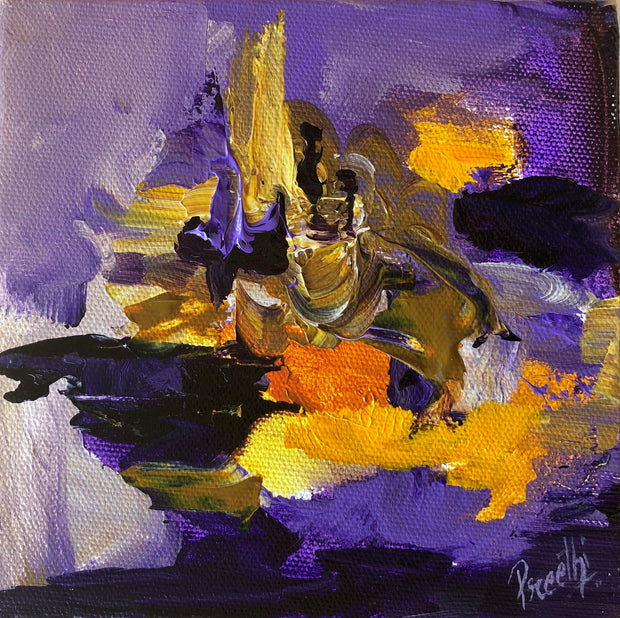 Hope 1 by Preethi Arts- 6x6 - Original Contemporary Modern Abstract Paintings by Preethi Arts
