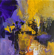 Hope 5 by Preethi Arts- 6x6 - Original Contemporary Modern Abstract Paintings by Preethi Arts
