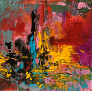 Hope 7 by Preethi Arts- 6x6 - Original Contemporary Modern Abstract Paintings by Preethi Arts