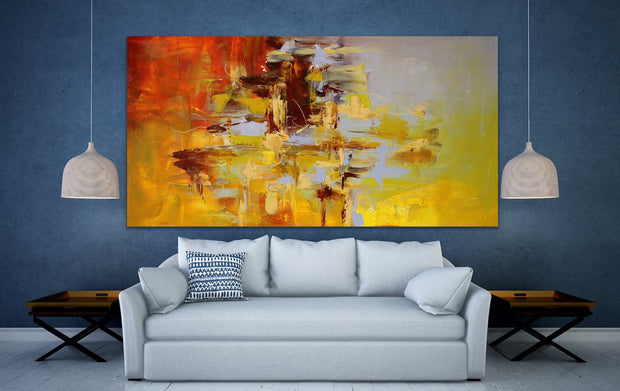 Victory 1 by Preethi Arts- 30x24 - Original Contemporary Modern Abstract Paintings by Preethi Arts
