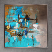 Passion 2 by Preethi Arts- 6x6 - Original Contemporary Modern Abstract Paintings by Preethi Arts