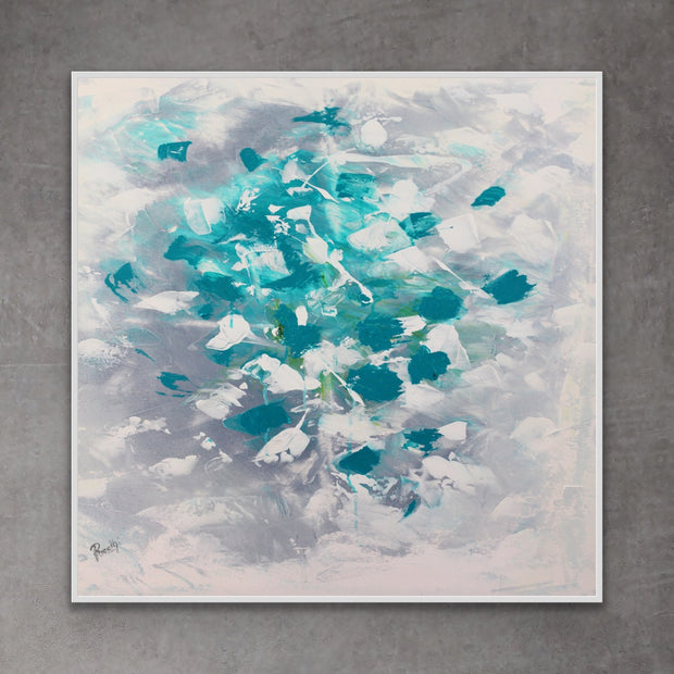 Passion 3 by Preethi Arts- 6x6 - Original Contemporary Modern Abstract Paintings by Preethi Arts