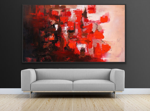 Romance 4 by Preethi Arts- 6x6 - Original Contemporary Modern Abstract Paintings by Preethi Arts