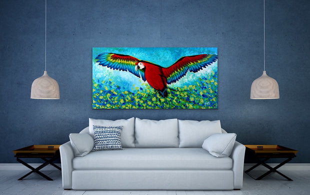 Spread ur wings by Preethi Arts- 24x48 - Original Contemporary Modern Abstract Paintings by Preethi Arts