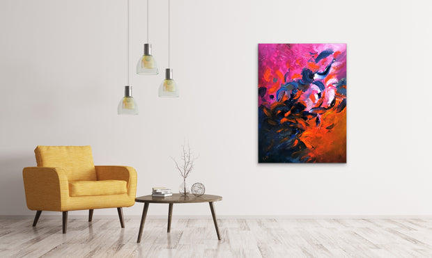 Fiesta by Preethi Arts- 30x40 - Original Contemporary Modern Abstract Paintings by Preethi Arts