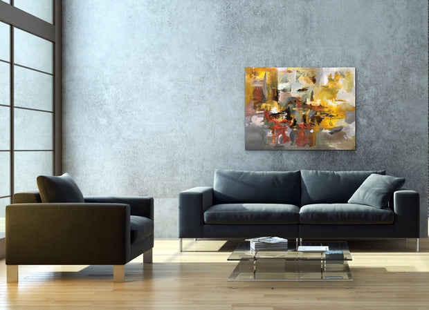 Puzzle by Preethi Arts- 30x40 - Original Contemporary Modern Abstract Paintings by Preethi Arts