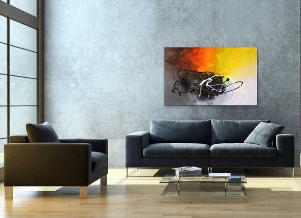 Evolve by Preethi Arts- 30x48 - Original Contemporary Modern Abstract Paintings by Preethi Arts
