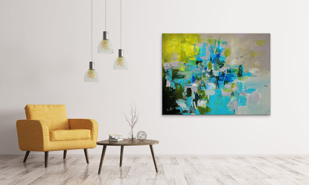 Fidelity by Preethi Arts- 30x40 - Original Contemporary Modern Abstract Paintings by Preethi Arts