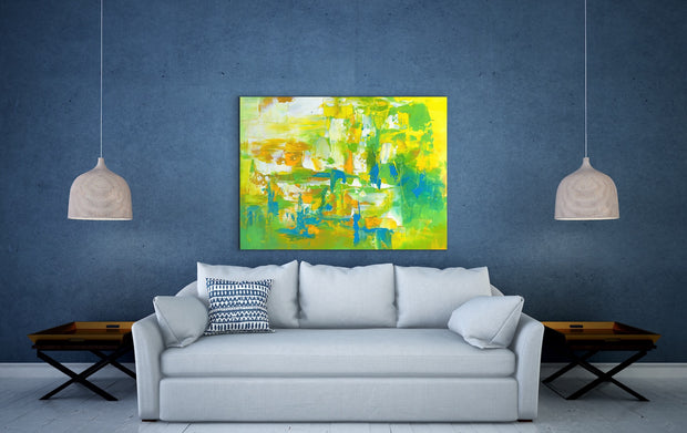 Mesmeric 1 by Preethi Arts- 30x40 - Original Contemporary Modern Abstract Paintings by Preethi Arts