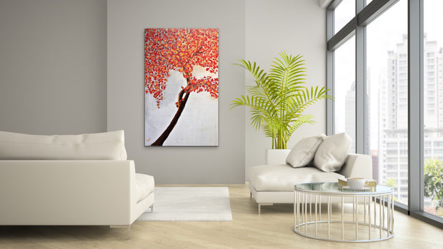 Seasonal by Preethi Arts- 30x48 - Original Contemporary Modern Abstract Paintings by Preethi Arts