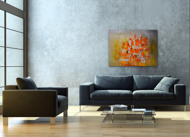 Ballistic by Preethi Arts- 30x40 - Original Contemporary Modern Abstract Paintings by Preethi Arts