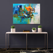 Virtual by Preethi Arts- 40x30 - Original Contemporary Modern Abstract Paintings by Preethi Arts