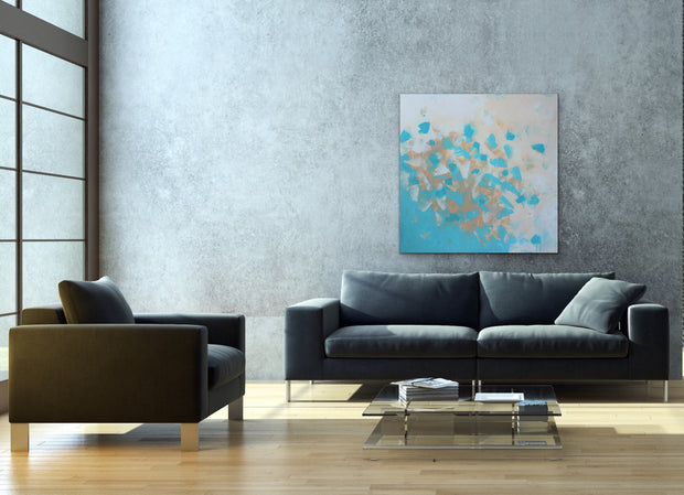 Favor by Preethi Arts- 36x36 - Original Contemporary Modern Abstract Paintings by Preethi Arts