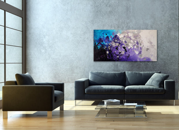 Diamond Ore by Preethi Arts- 24x48 - Original Contemporary Modern Abstract Paintings by Preethi Arts