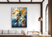 Impulsive by Preethi Arts- 36x48 - Original Contemporary Modern Abstract Paintings by Preethi Arts