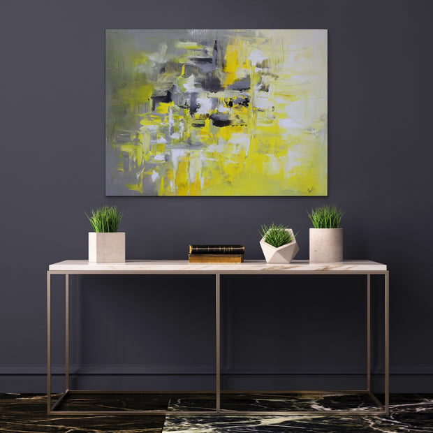 Lemonade by Preethi Arts- 30x40 - Original Contemporary Modern Abstract Paintings by Preethi Arts