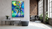 Aurora by Preethi Arts- 36x48 - Original Contemporary Modern Abstract Paintings by Preethi Arts