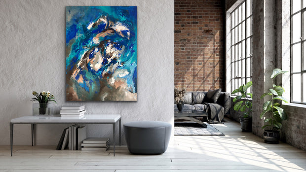 Atmos by Preethi Arts- 36x48 - Original Contemporary Modern Abstract Paintings by Preethi Arts