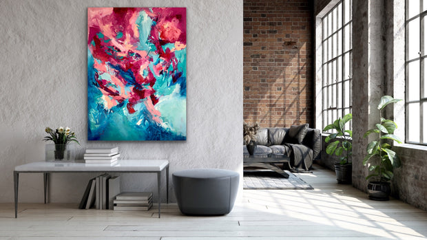 Glam by Preethi Arts- 36x48 - Original Contemporary Modern Abstract Paintings by Preethi Arts