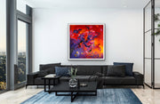 Lasting Passion by Preethi Arts- 48x48 - Original Contemporary Modern Abstract Paintings by Preethi Arts