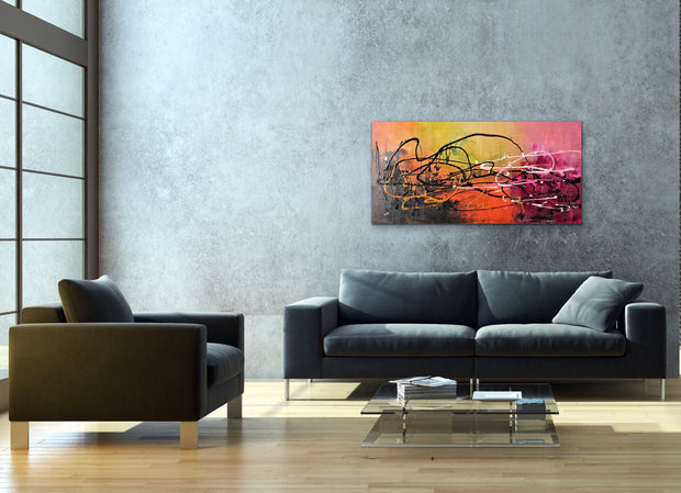 Twister by Preethi Arts- 24x48 - Original Contemporary Modern Abstract Paintings by Preethi Arts